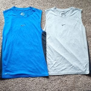Two Nike Dri Fit Tank Tops